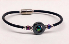 Circle with Iridescent Round Ball Anklet