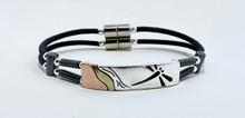 Dragonfly Rectangular Bar Double Corded Bracelet