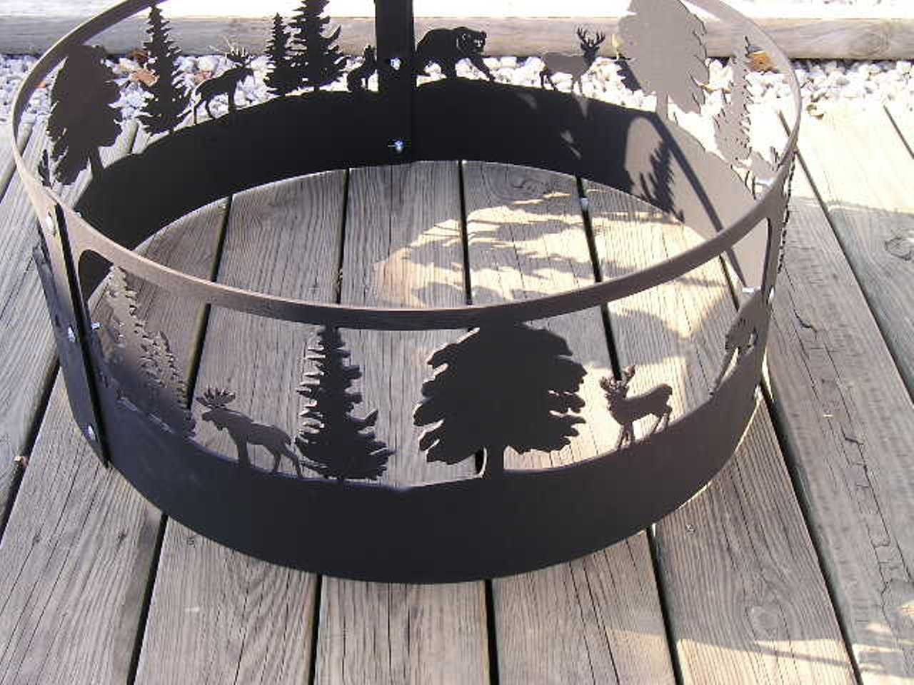 Wildlife Moose Deer Bear Fire Pit Ring Cnc Plasma Cut From