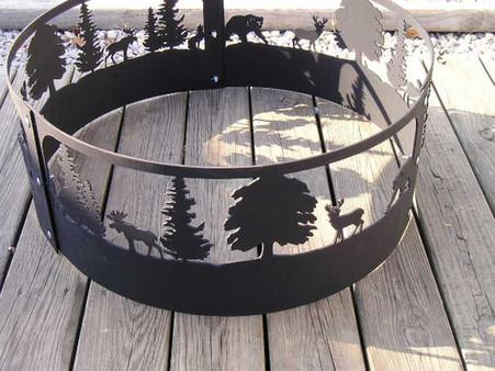 Wildlife Moose Deer Bear Fire Pit Ring Cnc Plasma Cut From