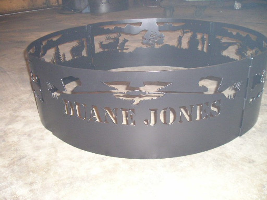 Htw Campfire Fire Pit Ring Custom Personalized Name