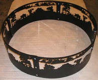 ATV Off-Road campfire fire pit ring. CNC Plasma Cut from 10GA gauge steel.