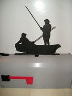 Fishing Mailbox Topper CNC Plasma Cut from 14ga steel