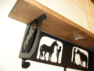 HTW Shelf Bracket Western Cowboy Cowgirl Horse Whisperer