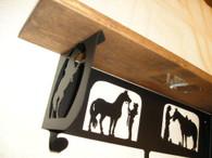 HTW Shelf Bracket Western Cowboy Cowgirl Horse Whisperer