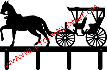 Horse and carriage Tack Hanger Rack