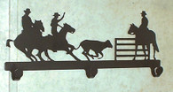 cowboy horse cutting Tack Hanger Rack Old style