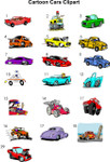 Cartoon cars clipart