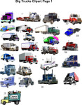 Big Truck Clipart page 1