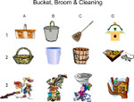 Bucket ,Broom, Cleaning