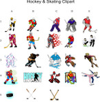 Hockey and Skating Clipart