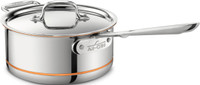 All-Clad Copper Core Irregular 3 qt. Sauce Pan with Lid and Loop-Special