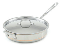 All-Clad Copper Core Irregular Sautuese Pan with Lid
