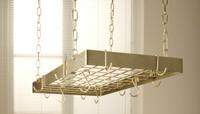Rogar Hammered Bronze and Brass Rectangular Rack with Grid