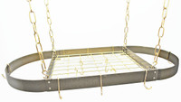 Rogar Hammered Bronze Oval Rack with Brass Accessories