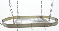 Rogar Hammered Bronze Oval Rack with Black Accessories