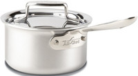 All-Clad d5 Brushed Stainless Irregular 1.5 qt. Sauce Pan with Lid