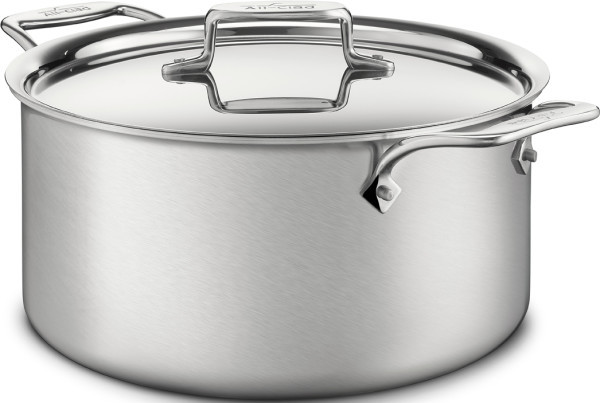 All Clad D5 Brushed Stainless Steel Stock Pot 8 Quart