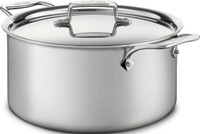 All-Clad d5 Brushed Stainless Irregular 8 qt. Stock Pot with Lid