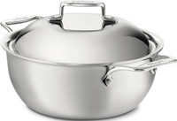 All-Clad d5 Brushed Stainless Irregular 5.5 qt. Dutch Oven with Lid
