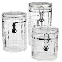 3-piece Acrylic Chequers Canister Set