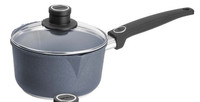 Woll Diamond Plus Irregular 2.1 qt. Sauce Pan with Lid and Pour Spouts