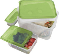 Oggi Chill To Go Food Container with Two Side Containers and Removable Freezer Pack
