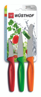 Wusthof 3-Piece Peeling, Paring, and Serrated Knife Set, Multicolored