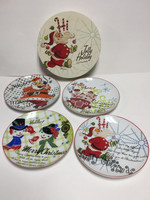 Rosanna Jolly Holiday Plates - set of 4