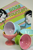 Rosanna Soda Fountain Ice cream Dishes - set of 4
