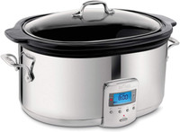 All Clad 6.5 Quart Slow Cooker with Black Ceramic Insert
