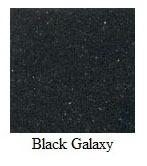 "Galaxy Black Granite 12""x12"" Tile - Three Sides Bullnosed"