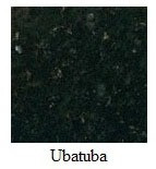 "Uba Tuba Granite 12""x12"" Tile - Two Sides Bullnosed"