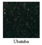 """Uba Tuba Granite 12""""x12"""" Tile - One Side Bullnosed"""