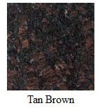 "CUT TO SIZE (PRE-CUT) Tan Brown Granite - Pick your size from 5"" to 6"""