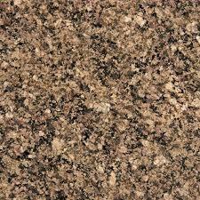 """Autumn Harmony/Desert Brown Granite (AKA Sunset Gold) 12""""x12"""" Tile - One Side Bullnosed"""