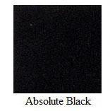 "Absolute Black Granite 12""x12"" Tile - One Side Bullnosed"