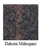"Dakota Mahogany Granite 12""x12"" Tile - One Side Bullnosed"