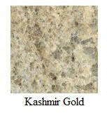 "Kashmir Gold Granite 12""x12"" Tile - One Side Bullnosed"