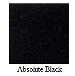 "Absolute Black Granite 12""x12"" Tile - Three Sides Bullnosed"