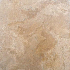 "Single Bullnose Edge (18""x18"" Travertine Tile) - MS International Castle 18 in. x 18 in. Honed-Filled Travertine Floor and Wall Tile"