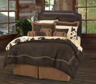 7 Piece Queen Barb Wire Luxury Bedding Set