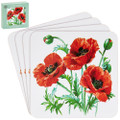 Poppy Coaster Set 4