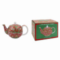 Strawberry Thief Red Teapot