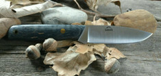 Landi Knives - EDC - Black Dyed Maple Wood - A2 Steel