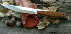 American Knife Company -  Forest II -  Natural Canvas Micarta - Polished Finish