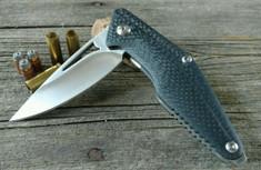 Brous Blades - Mini Division CF - Carbon Fiber Handles - Satin Finish