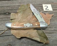 Schatt and Morgan Cutlery  - #41 Small Pocket Hunter (Copperhead) - Golden Spalted Maple Wood - (2)