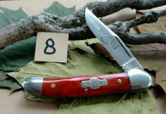 Schatt and Morgan Cutlery  - #41 Small Pocket Hunter (Copperhead) - Burnt Orange Spalted Maple Wood - (8)
