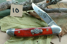 Schatt and Morgan Cutlery  - #41 Small Pocket Hunter (Copperhead) - Burnt Orange Spalted Maple Wood - (10)